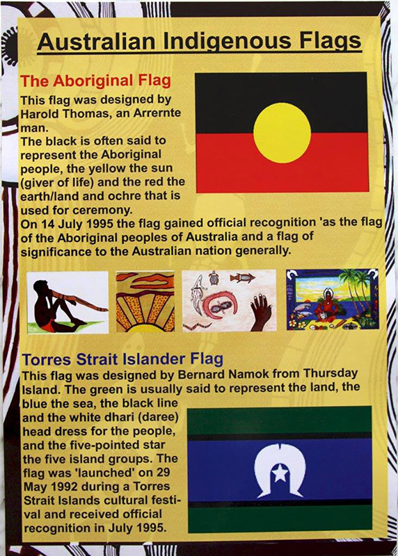 Australian A3 Poster Indigenous Flags