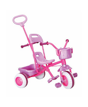 *SPECIAL: SPECIAL: Tray Trike With Handle Pink - 66cm (w)