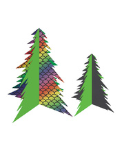 *SPECIAL: >Scratch Paper Shapes - Christmas Trees 20pk