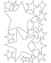 *SPECIAL: >Cardboard Assorted Stars - 160pk