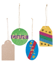 >Paper Mache Gift Tags - 40pk