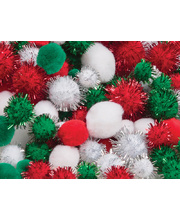 >Pom Poms 300pk - Christmas Assorted
