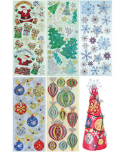 >Christmas Assorted 3D Stickers - 100pcs