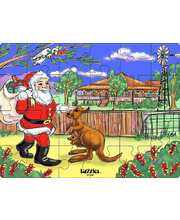 >Tuzzles Santa In The Outback Puzzle - 24pcs