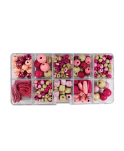 *Beads Box Wooden - Pink