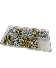 *SPECIAL: >Bead Box Plastic - Metallic Gold & Silver