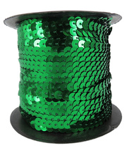 *Sequin String Roll 5mm x 45m - Green