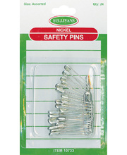 Safety Pins - Assorted Sizes 24pk