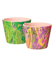 Easter Marbled Flower Pots - Class Pack of 30