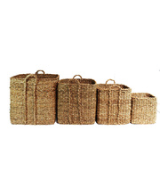 Giant Seagrass Baskets - Square 4pcs