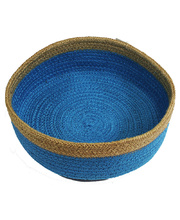Natural Jute Bowl Large - Royal Blue