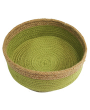 Natural Jute Bowl Large - Green