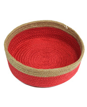 Natural Jute Bowl Large - Red