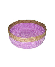 Natural Jute Bowl Large - Purple