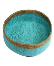 Natural Jute Bowl Large - Sky Blue