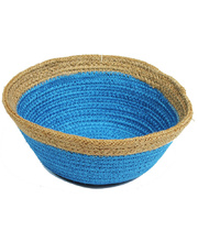 Natural Jute Bowl Small - Royal Blue