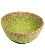 Natural Jute Bowl Small - Green