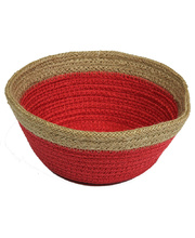 Natural Jute Bowl Small - Red