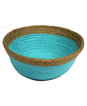 Natural Jute Bowl Small - Sky Blue