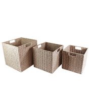 Natural Paper Rope Basket - Neutral Set of 3