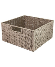 Natural Paper Rope Square Basket - Neutral