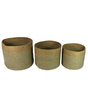 *SPECIAL: Natural Stacking Jute Baskets - Set of 3 - Mist Weave