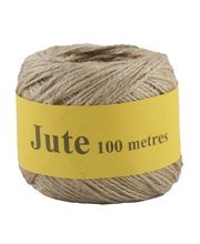 Jute Cord 2 Ply Roll 100m - Natural