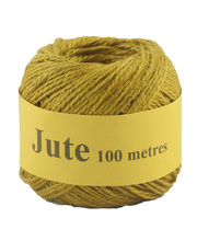 Jute Cord 2 Ply Roll 100m - Yellow