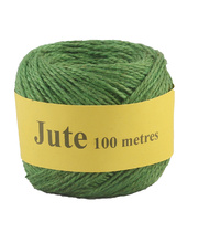 Jute Cord 2 Ply Roll 100m - Green