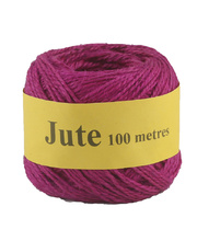 Jute Cord 2 Ply Roll 100m - Pink