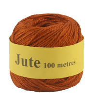Jute Cord 2 Ply Roll 100m - Orange