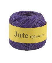 Jute Cord 2 Ply Roll 100m - Purple