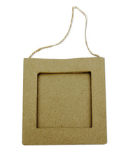 *Paper Mache Hanging Frame - Square 6pcs