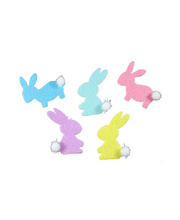 >Felt Stickers Assorted - Easter Bunnies with Pom Pom Tails 60pk