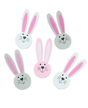 >Foam Stickers - Easter Bunny Faces 80pk