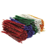 Pipe Cleaner Tinsel Assorted Colours - Short 150mm 500pk