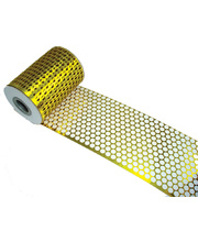 Round Honeycomb Mesh - Gold 10m x 83mm