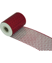 Round Honeycomb Mesh - Red 10m x 83mm