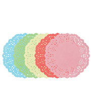 Doilies Coloured Round 100pk - 165mm