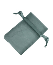 Organza Draw String Bag - 110 x 75mm Silver