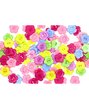 Buttons Plastic Flowers - 150g