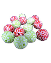 *SPECIAL: >Beads Round Christmas Decorative - 15mm 200g