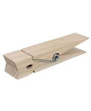 Natural Wooden Mega Pegs - 4pk