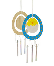 Wooden Wind Chimes - Egg 10pk