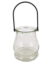 Glass Lantern with Wire Handle - 6pk