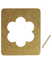 Wooden Frames - Flower with Dowel 6pk