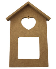 *SPECIAL: Wooden Frames - House with Heart Cut-out 6pk