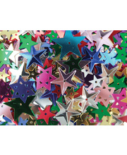 >Sequins Star Assorted - 50g