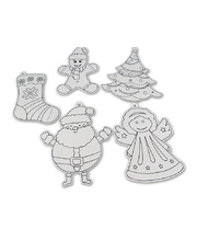 *SPECIAL: >Paper Christmas Shapes Assorted - with Black Outline 20pcs