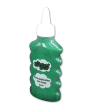 *Gloo Glitter Glue 120ml Bottle - Green